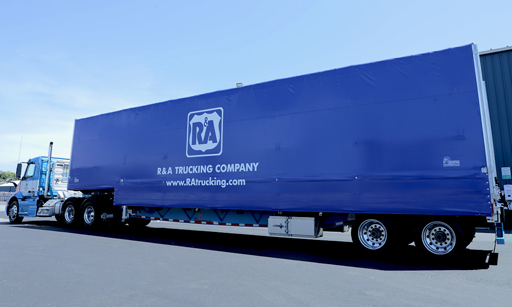 R&A Trucking Co. - Rolling Tarp & Curtain Side Truck